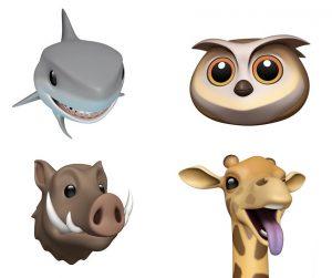 Nouveaux animojis sur iOS 12.2