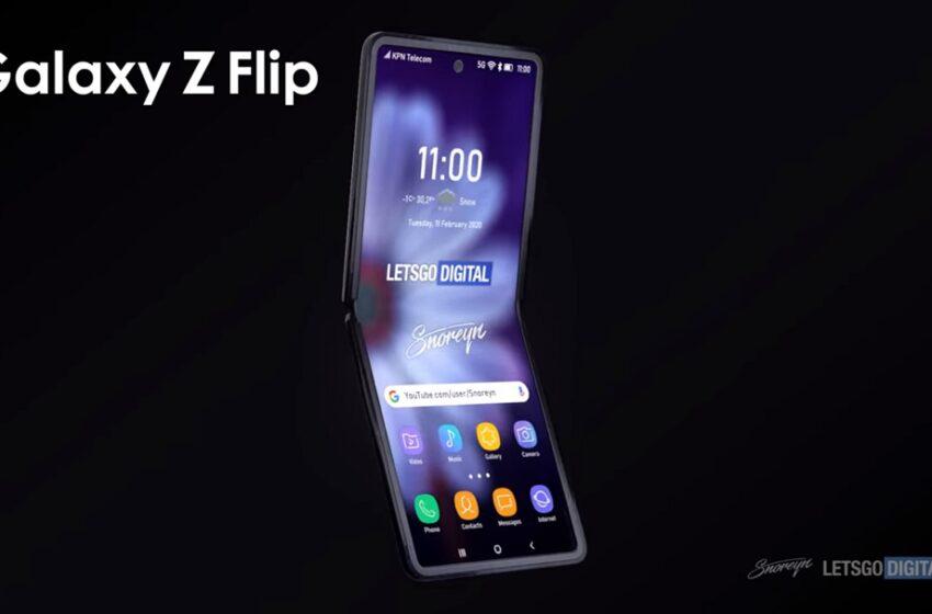 Le Samsung Galaxy Z Flip se dévoile dans un rendu 3D impressionnant