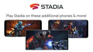 Stadia sur smartphones Samsung, Razer, ASUS
