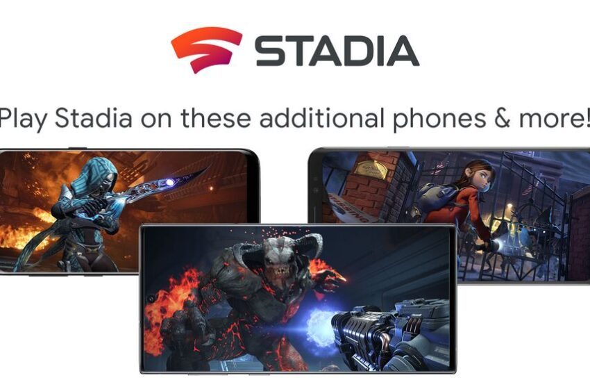 Le service Stadia va s'étendre sur les mobiles Samsung, Razer et Asus